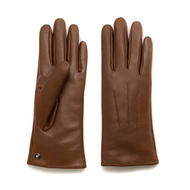 Classic brown gloves for ladies
