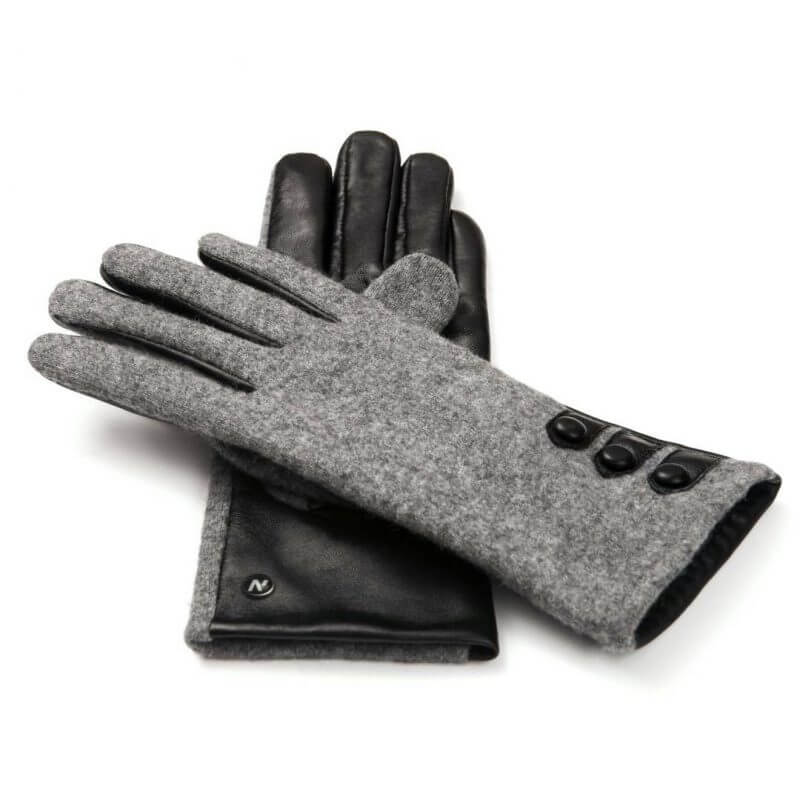 Two-color gloves for ladies