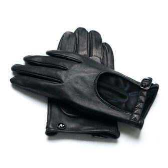 Rock leather gloves for ladies