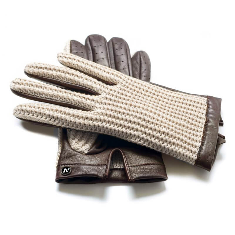 Beige gloves for drivers