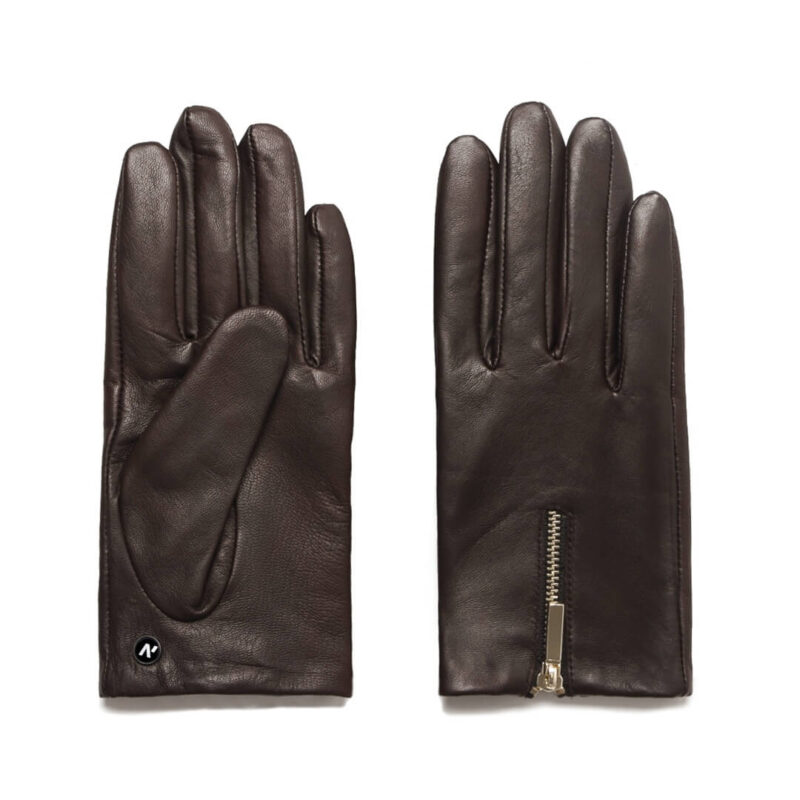 Women's gloves with zippers