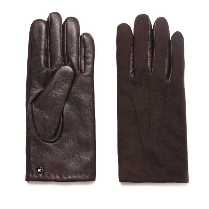 Men's gloves in brown color