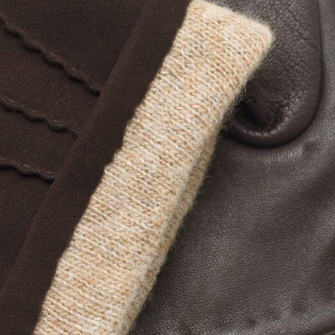 Brown napoSUEDE details