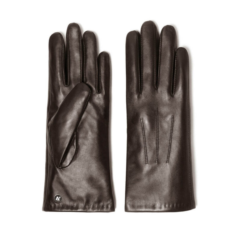 Brown gloves for ladies