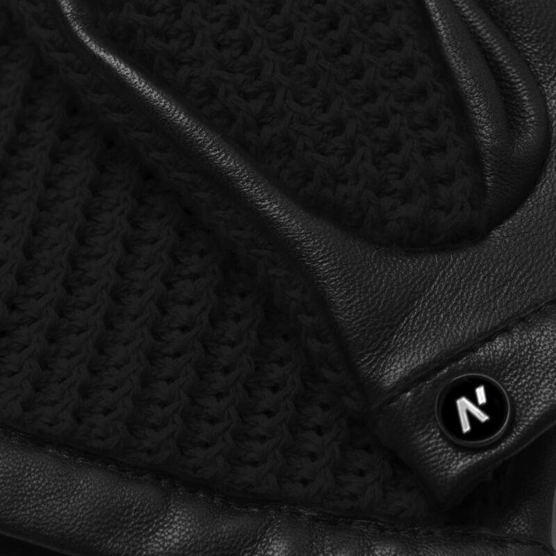 Black napoCROCHET details