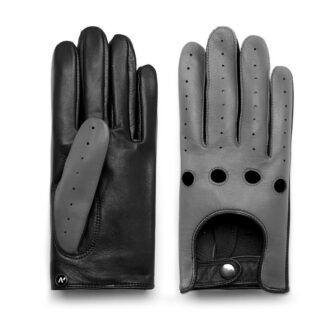 Grey gloves for drivers