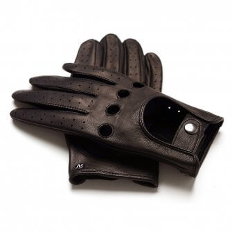 napoDRIVE (brown) - Men's driving gloves without lining made of lamb nappa leather