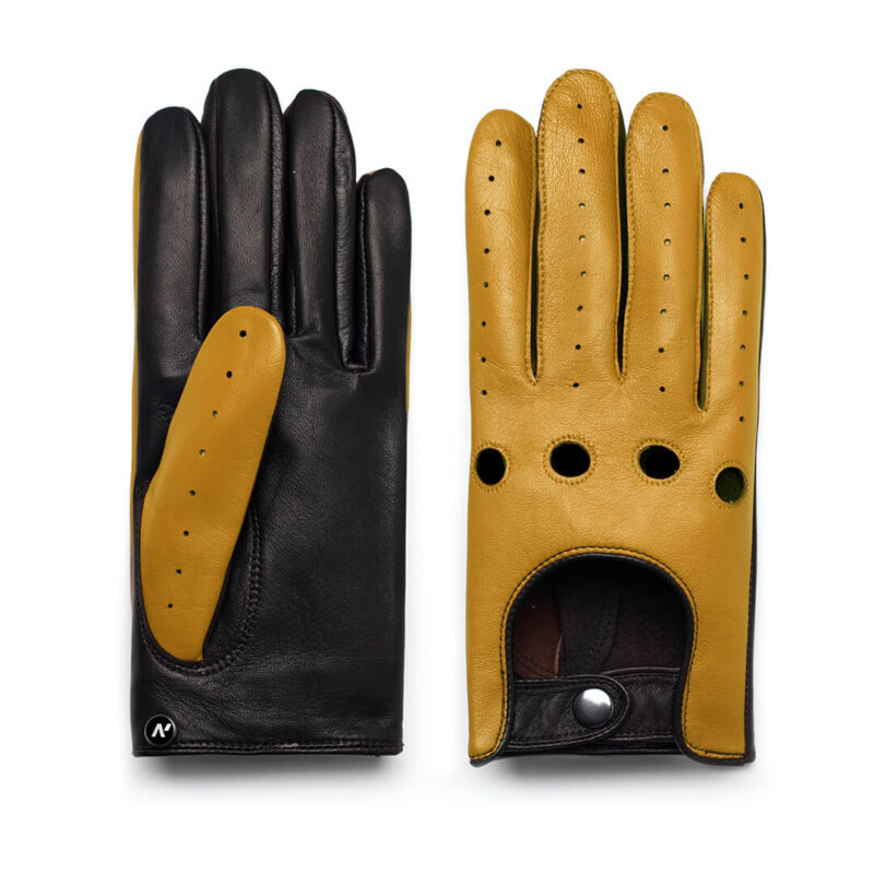 Yellow gloves for drivers