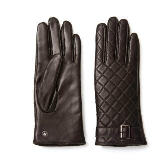 Stylish brown women's gloves