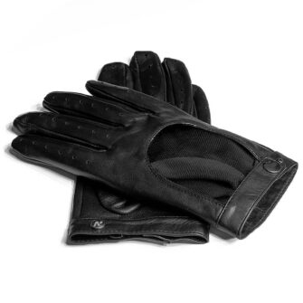 Black driving gloves for women