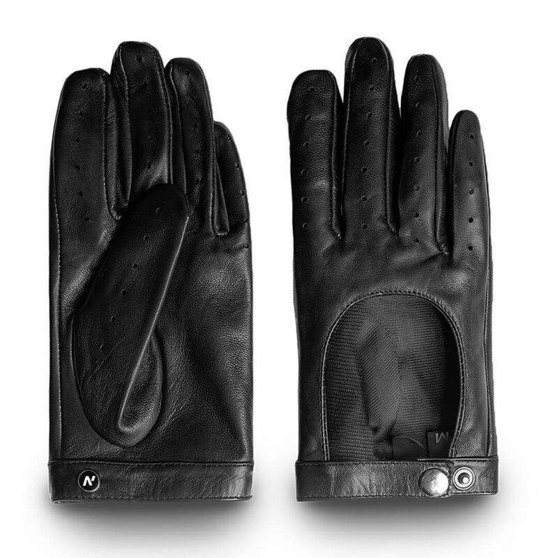 Black driving gloves for women