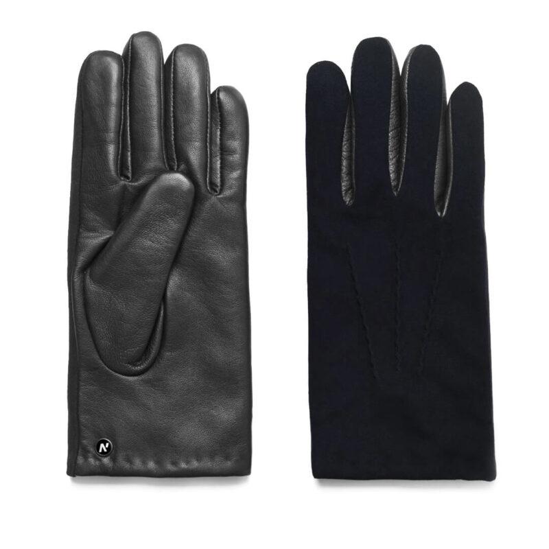 Gloves in black and dark blue color