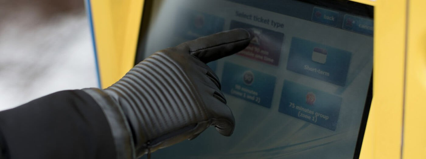 Gloves with NAPOTOUCH technology