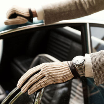 Retro driving gloves