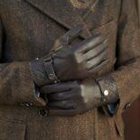 Brown modern gloves