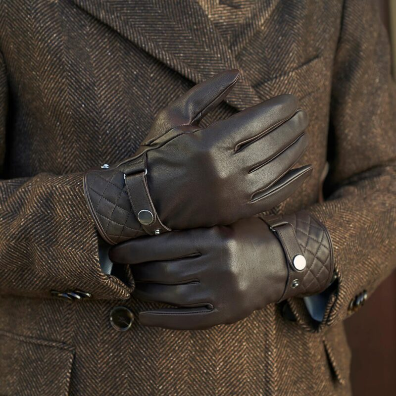 Brown modern gloves