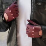 Driving gloves look perfect with a leather jacket