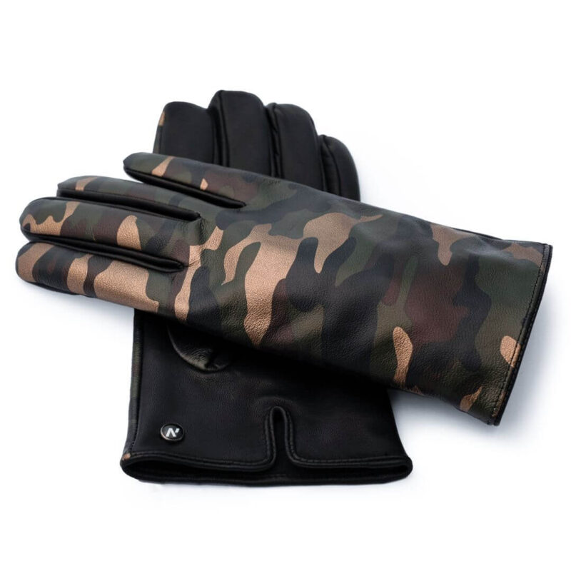 Men's camo touchscreen gloves