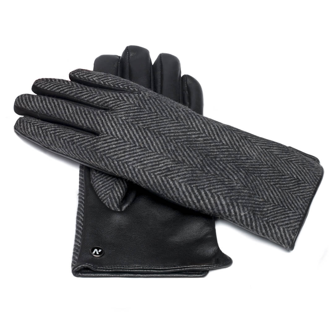Gloves with lining made of eco leather for her