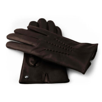 Brown gloves made of lamb nappa leather