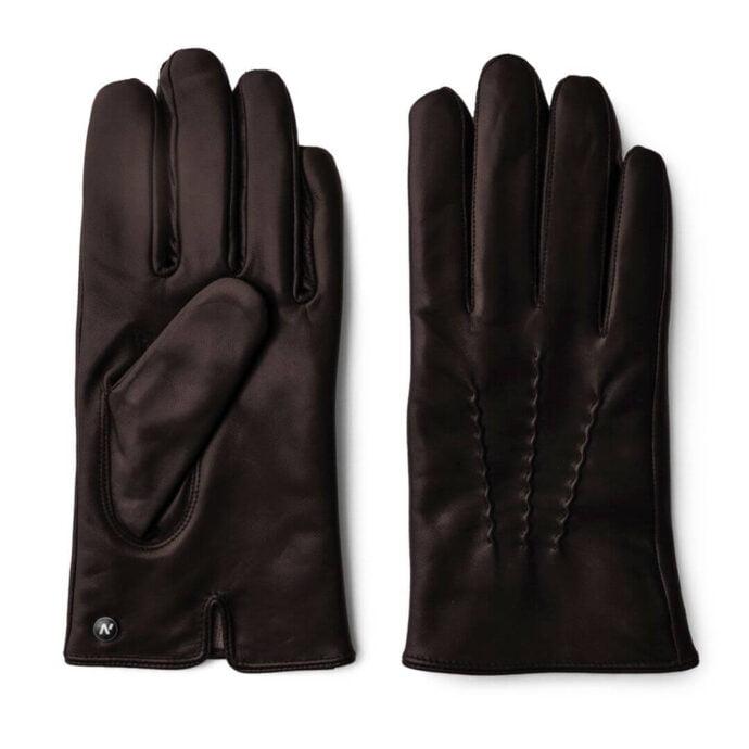 Brown winter gloves for men