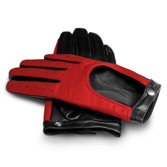 Red driving gloves for her