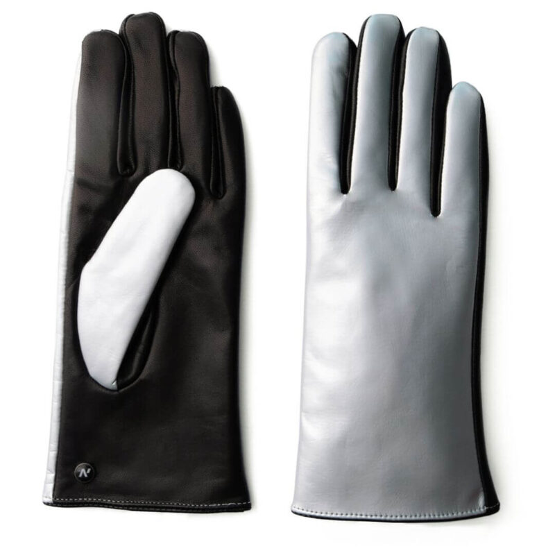 Shiny gloves with abrasion resistant touchscreen technology