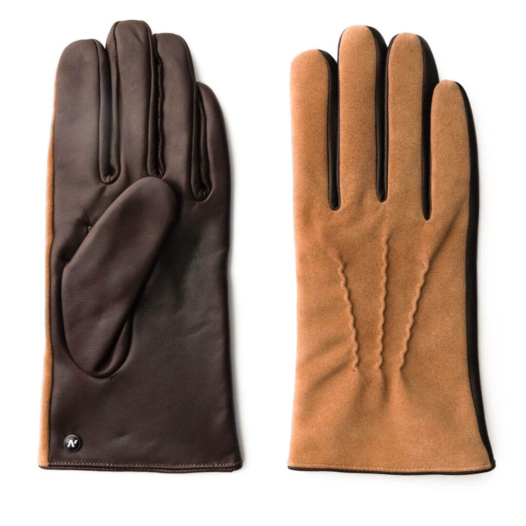 Camel touchscreen gloves for men