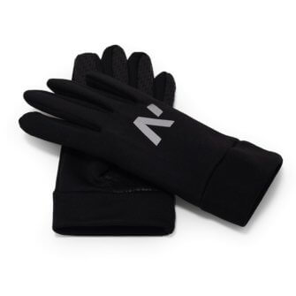 Men's touchscreen sports gloves covered with a non-slip layer