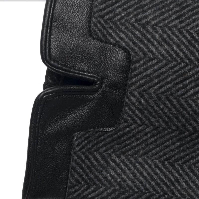 Grey napoTWEED details
