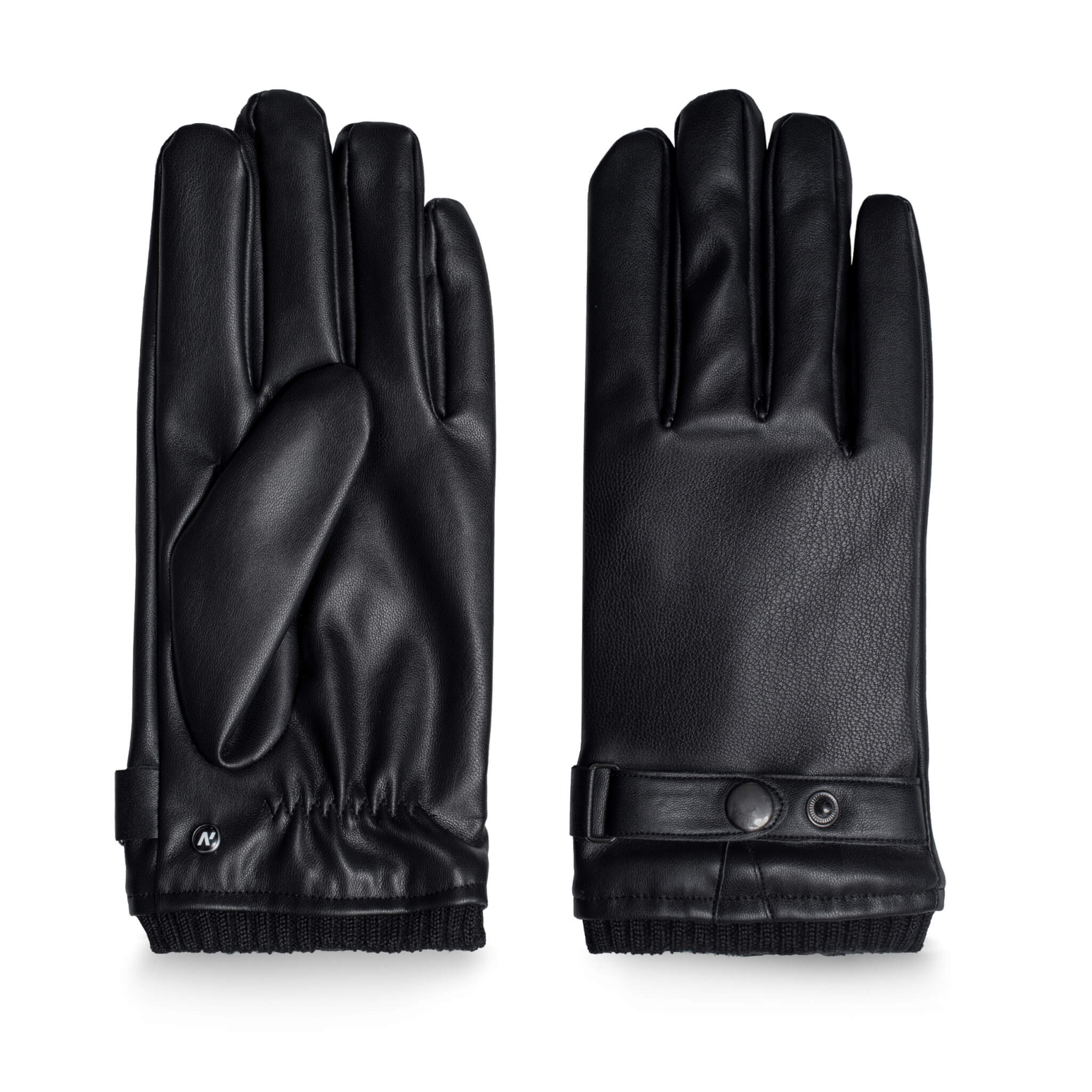 Winter gloves with lining made of eco leather with touchscreen technology